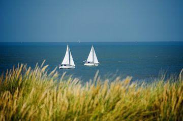 Segelboote auf der Nordsee  von Jessica Berendsen