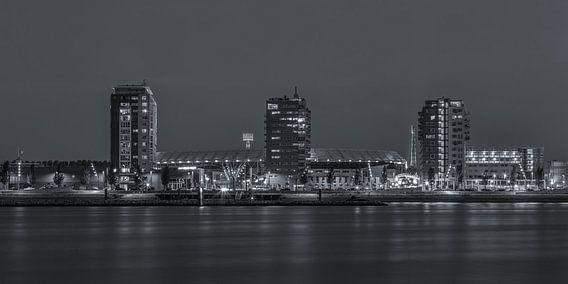 Feyenoord Rotterdam stadion De Kuip at Night - 2
