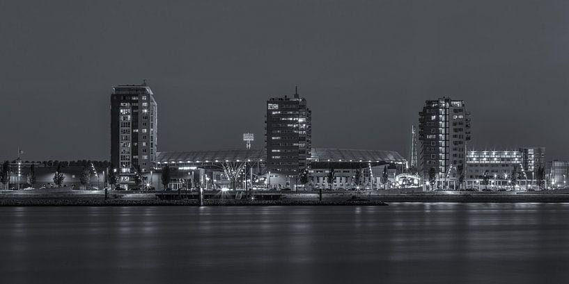 Feyenoord Rotterdam stadion De Kuip at Night - 2 van Tux Photography