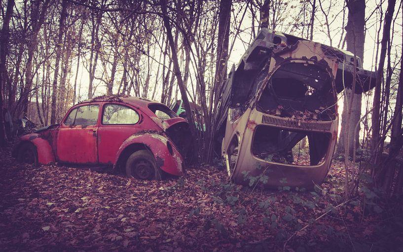 Verlaten auto's van Tamara de Koning