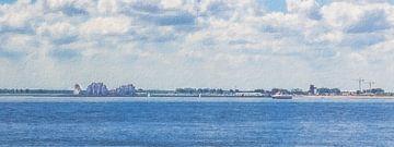 Ansicht von Breskens (Panorama, Gemälde) von Art by Jeronimo