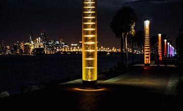 Prachtig uitzicht op de haven van Miami in de nacht van Nynke Nicolai