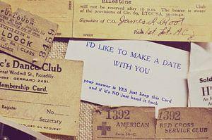 Einladung zum Ausgehen, einige alte Briefe und Karten von Carolina Reina