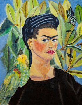 Frieda Khalo von Antonie van Gelder Beeldend kunstenaar