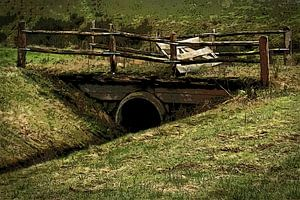 Kleine brug op het platteland