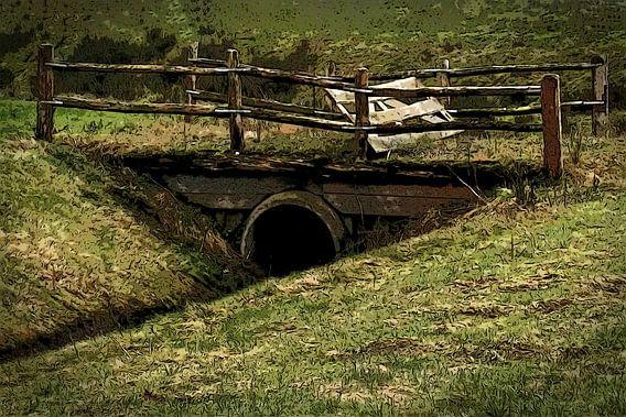 Kleine brug op het platteland van Aafke's fotografie