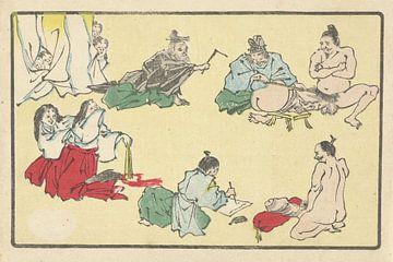 Penis opmetingen, Kawanabe Kyôsai