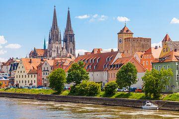 Regensburg in de zomer van Jan Schuler