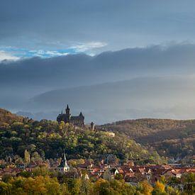 Stadtansicht Wernigerode mit Schloss von Oliver Henze