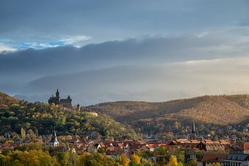 Stadtansicht Wernigerode mit Schloss