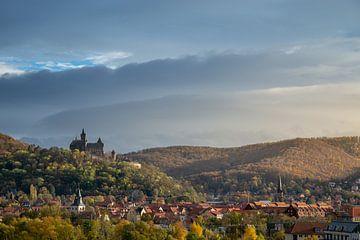 Stadsgezicht Wernigerode met kasteel