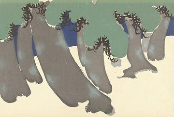 Tannenbäume von Kamisaka Sekka, 1909