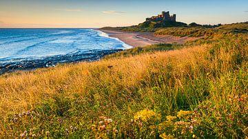 Bamburgh Castle, Northumberland, England van Henk Meijer Photography