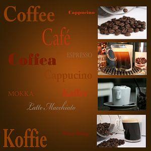 Reclame uiting voor koffiehuis, restaurant of cafe