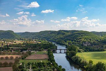 Uitzicht op de rivier de Dordogne van Martijn Joosse