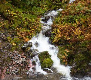 Waterval in Glencoe, Schotland van