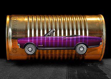 Opel Commodore Een Cabriolet op blikje van aRi F. Huber