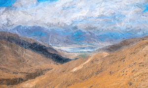 Berglandschap in de Himalaya, Tibet