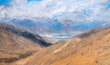 Berglandschaft im Himalaya, Tibet von Rietje Bulthuis