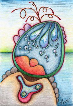 Kleurrijke fantasie tekening von Gabi Gaasenbeek
