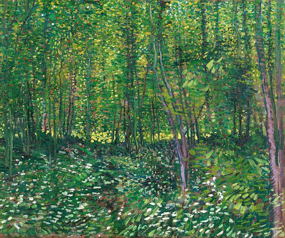 Vincent van Gogh, Bos met kreupelhout van 1000 Schilderijen