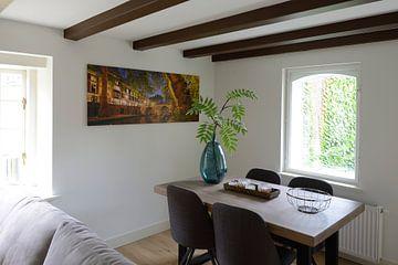 Kundenfoto: Oudegracht mit Weesbrug in Utrecht von Donker Utrecht