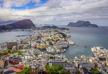 Ålesund in Norway van Hamperium Photography