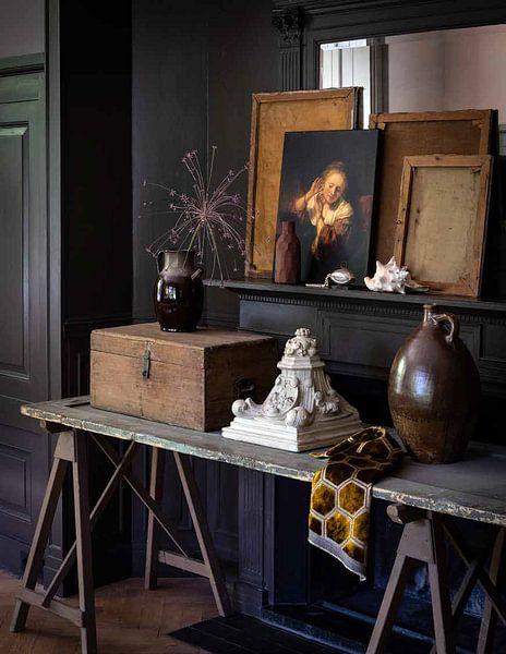 Photo de nos clients: Jonge vrouw met oorbellen, Rembrandt sur Rembrandt van Rijn, sur toile