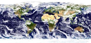 Aarde met wolken van Space and Earth