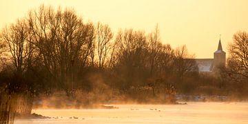 IJssel, zonsopkomst von Evert Jan Kip