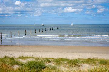Strand van Nieuwpoort van Johan Vanbockryck