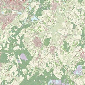 Kaart vanHilvarenbeek van