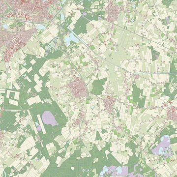 Kaart vanHilvarenbeek