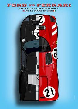 Ford vs Ferrari, Le Mans 1966 von Theodor Decker