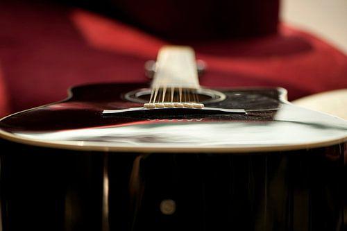 Stilleven van een gitaar van