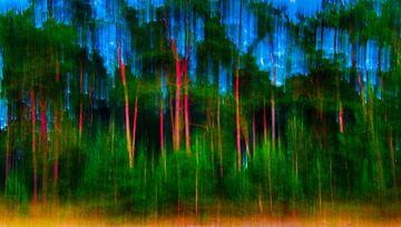 Bos - abstract 2  van I Baay