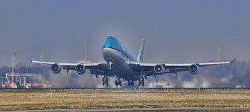 Jumbojet Lift-off op Schiphol van