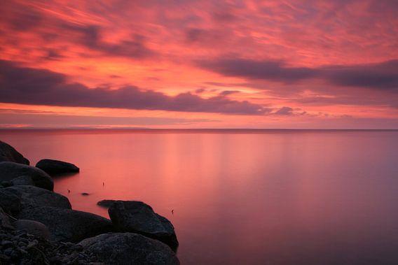 Zonsondergang Zweeds meer van Gijs de Kruijf