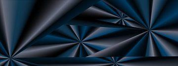 Abstract blauw universum van Ina Fischer