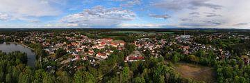 Stadt Bernsdorf (OL), Luftbild Panorama von shop.menard.design - (Luftbilder Onlineshop)