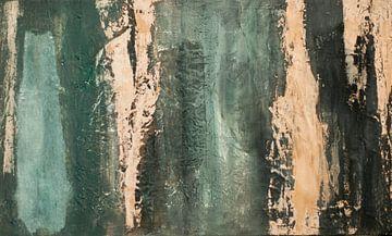 Sober abstract 02 van Willie Roosenbrand Art