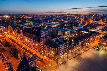 Skyline van Leuven vanaf universiteitsbibliotheek Ladeuzeplein van Bert Beckers