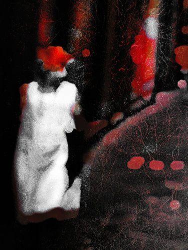 The woman with the white dress van Gabi Hampe