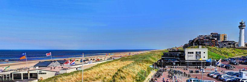 Egmond aan Zee Strand Vuurtoren Panorama van Hendrik-Jan Kornelis