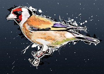 Stieglitz Vogel Kunst #Goldfink von JBJart Justyna Jaszke