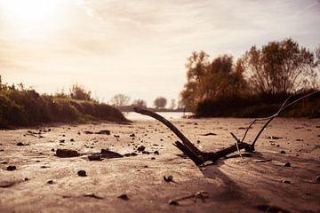 Wrackteile an einem Flussstrand von Bert-Jan de Wagenaar