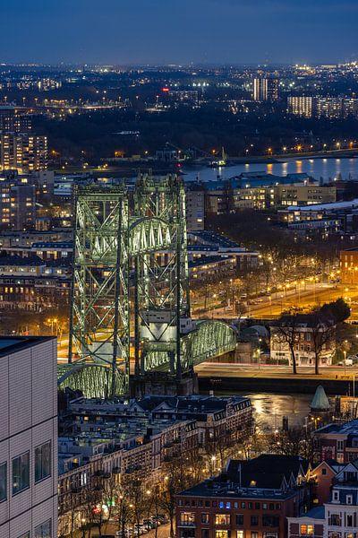 Hefbrug vanuit de lucht van Prachtig Rotterdam