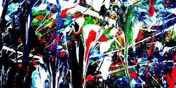 abstrakte Malerei P1   limitierte Auflage 1-100