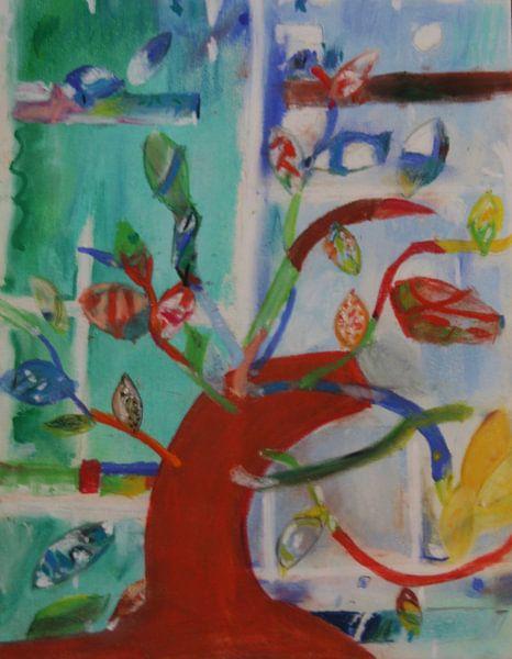 Kleurenboom 2 (Color Tree 2, Arbre de couleur 2, Farbebaum 2) van Catharina Mastenbroek