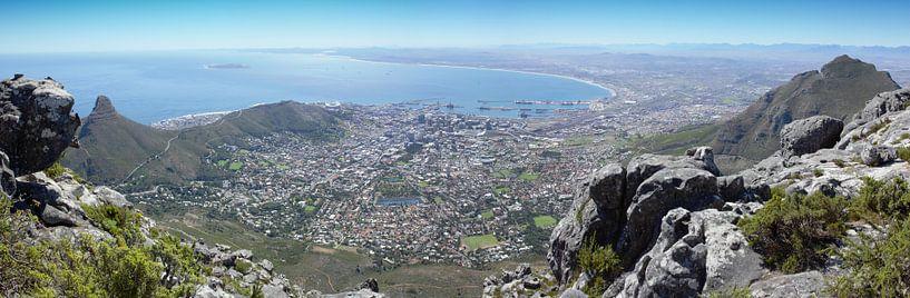Kaapstad vanaf de Tafelberg van Chris van Kan